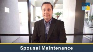 Spousal Maintenance