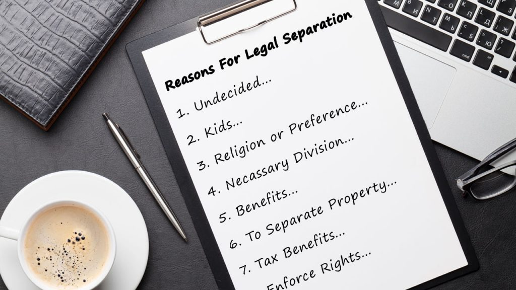 Reasons for Legal Separation